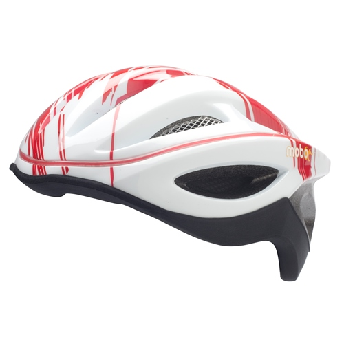 Mobo 360 LED Helmet, Red with White L/XL