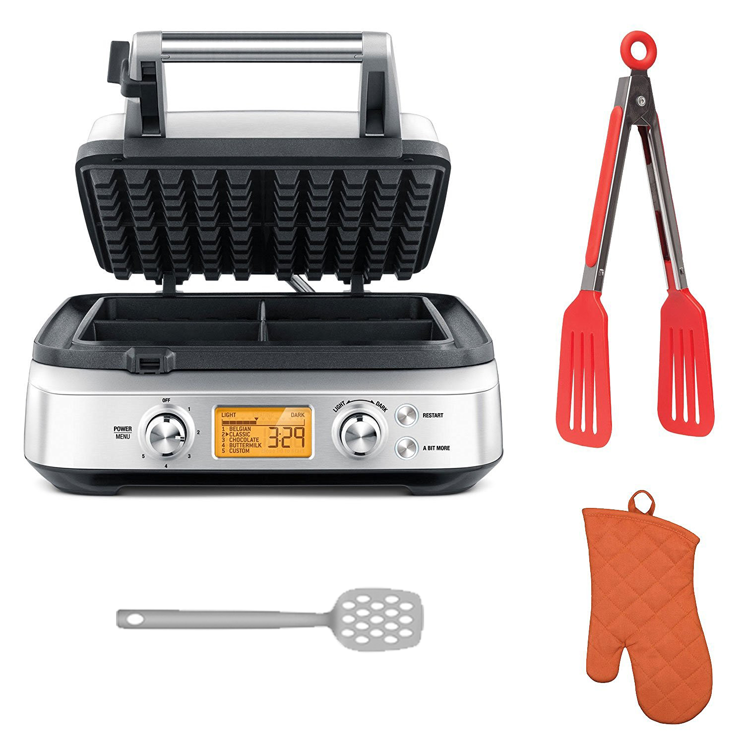 Breville BWM640XL 4 Square Smart Waffle Maker with Deluxe...