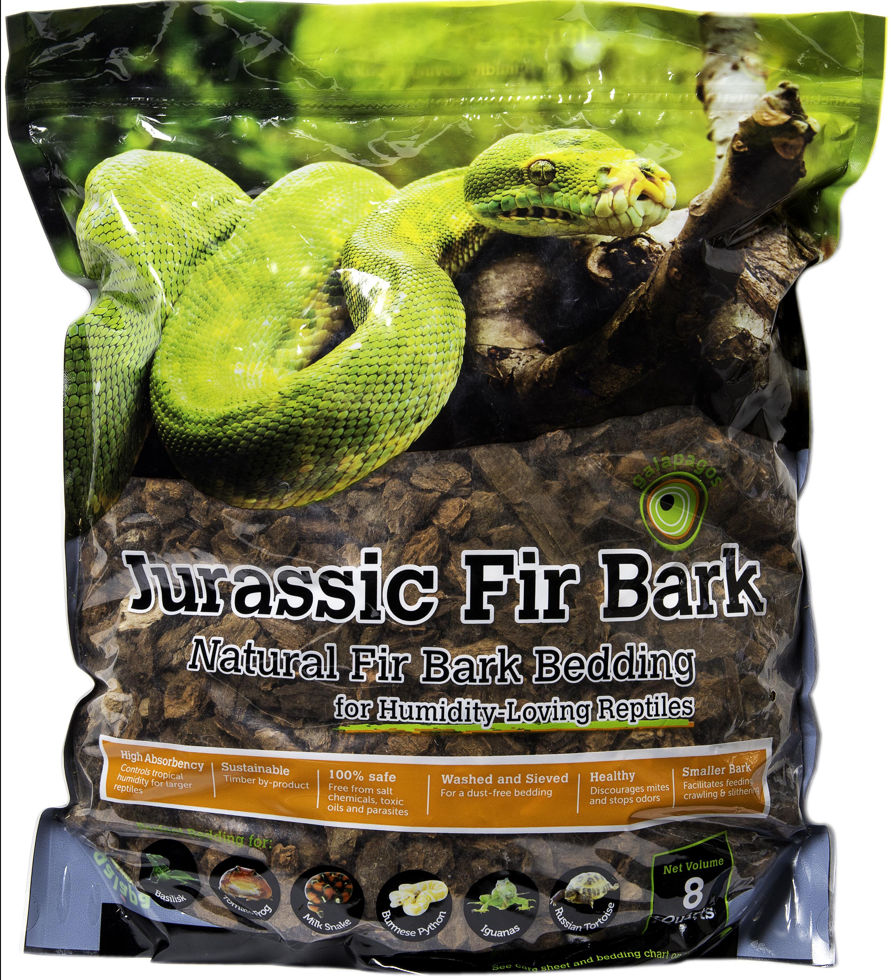 Galapagos Reptile Terrarium Jurassic Fir Bark, Natural, 8-Quart Stand-Up Pouch