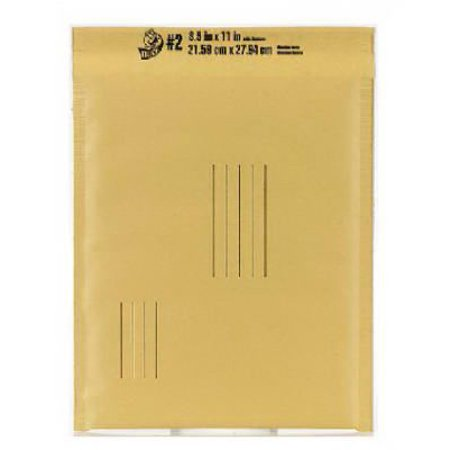 Duck Brand #2 Kraft Bubble Mailer - 8.5 in. x 11 in. , Manilla