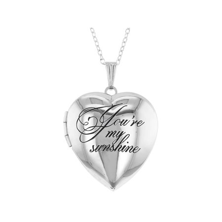 You're my Sunshine Love Family Photo Pendant Heart Locket Necklace 19