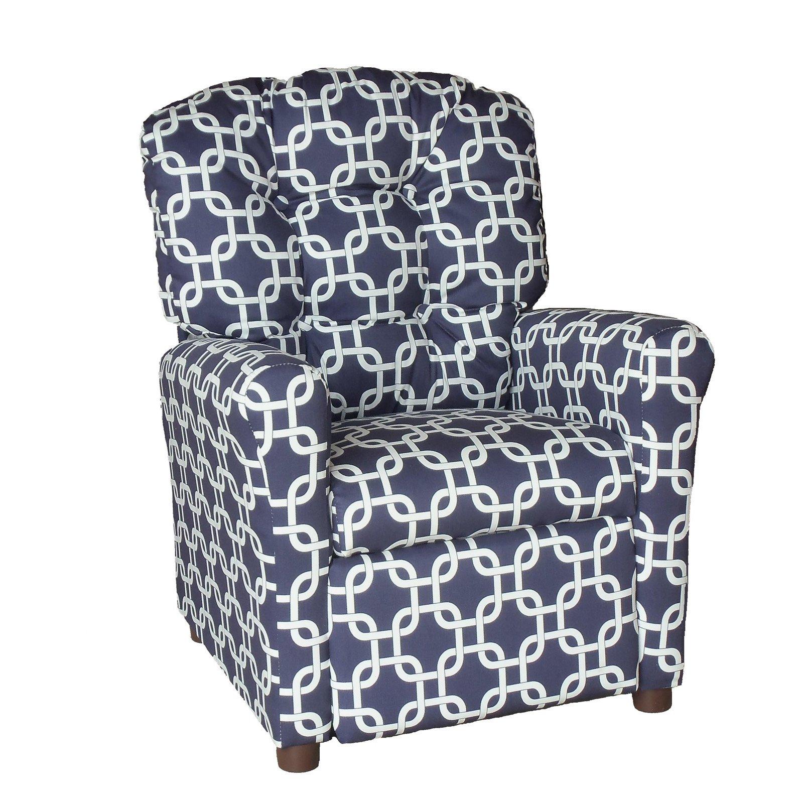 Brazil Furniture 4-Button Back Childrens Recliner - Gotcha Pattern