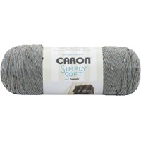Caron Simply Soft Tweeds Off White Yarn, 1 Each