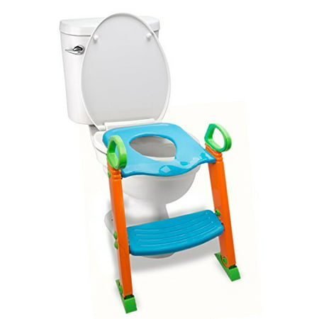 Potty Toilet Seat with Step Stool ladder, (3 in 1) Trainer for Kids Toddlers W/ Handles. Sturdy, Comfortable, Safe, Built In Non-Slip Steps W/ Anti-Slip Pads. Excellent Potty Seat Step Boys Girls
