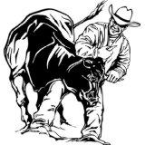 Rodeo - Boys Bed Room - Picture Art - Peel & Stick Vinyl Wall Decal Sticker 20x20