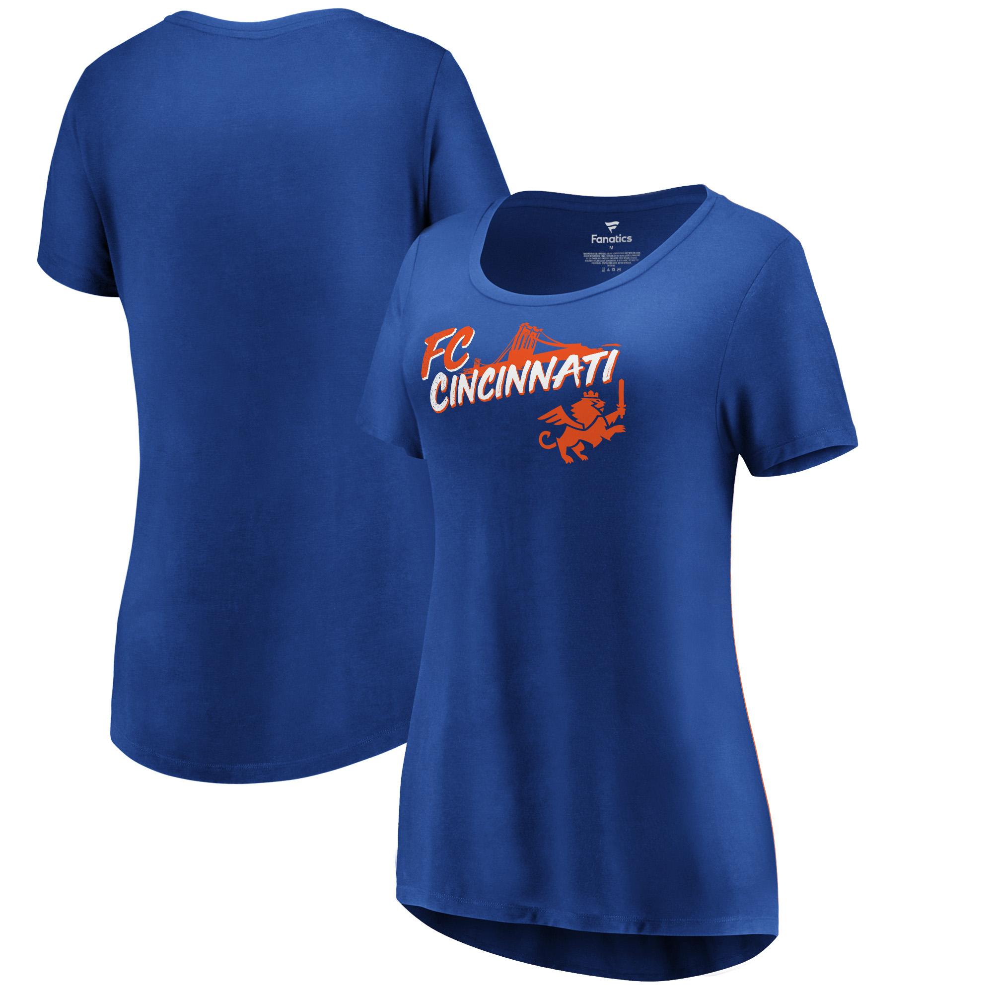 FC Cincinnati Fanatics Branded Women's Roebling T-Shirt - Royal