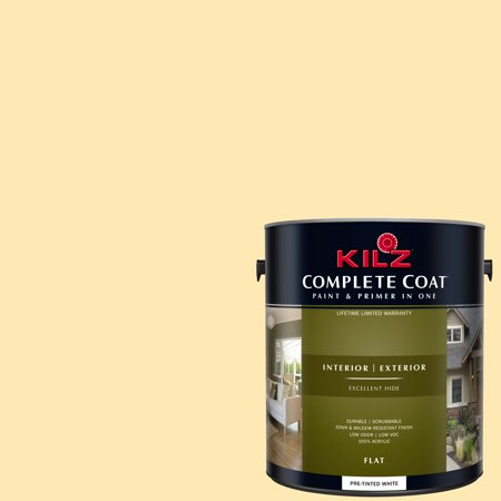 KILZ COMPLETE COAT Interior/Exterior Paint & Primer in One #LE180-02 Cream Gold