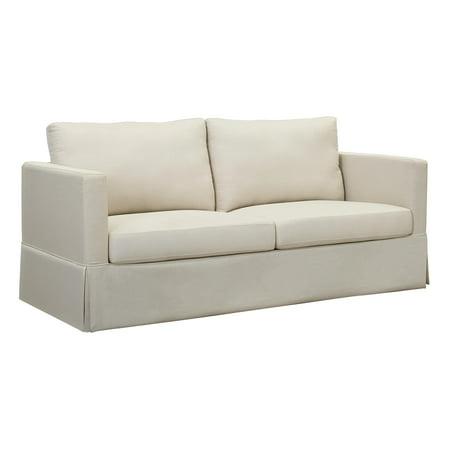 Better Homes And Gardens Russel Skirted Slipcover Sofa Beige
