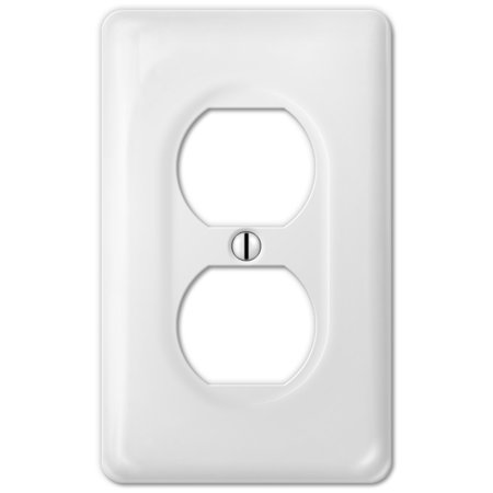 Ceramic Heat Reflector Plate - Amerelle 3020DW Classic Ceramic Wall Plate 1 Duplex Outlet, White