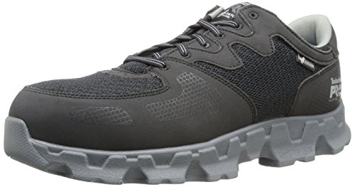 Timberland PRO Men's Powertrain Alloy Toe ESD Industrial Shoe,Black Grey Micr... by Timberland PRO