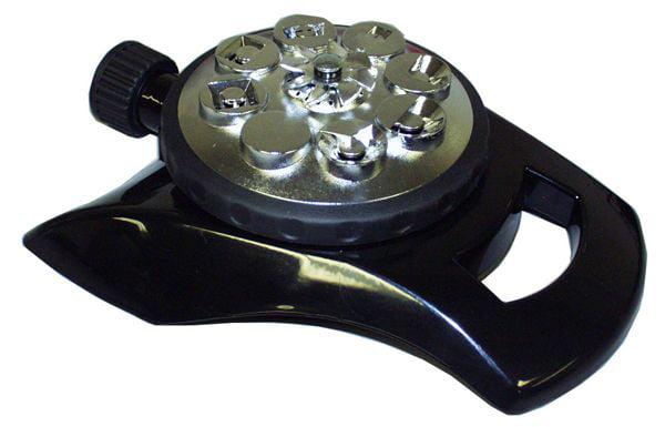 Orbit 8 Pattern Adjustable Lawn Watering Sprinkler with Aluminum Base 58256N by Orbit