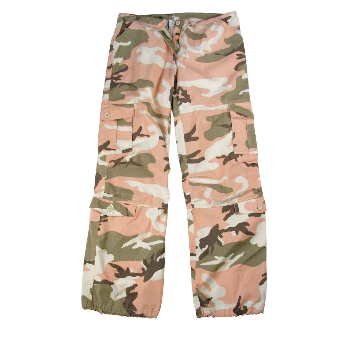 Women's Vintage Paratrooper Fatigues Pink Camo by Rothco