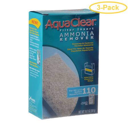 Aquaclear Ammonia Remover Filter Insert For Aquaclear 110 Power Filter - Pack of 3