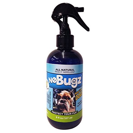 Flea Repel - Nobugz Specially Formulated Pet Spray - DEET FREE, All Natural Insect Repellent for Dogs, 100% Guaranteed to Repel Fleas, Ticks, Gnats, Mosquitoes, Pesky Insects - 8oz Made in USA