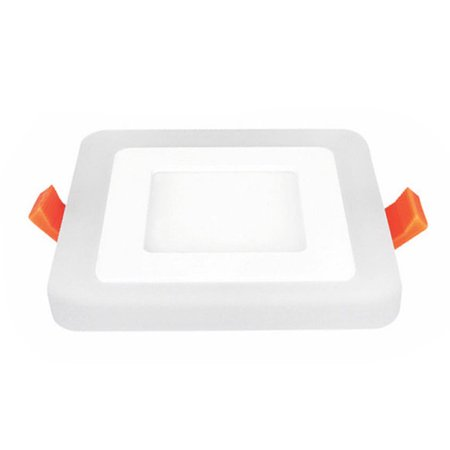 Dual Color Acrylic LED Recessed Ceiling Panel Down Lights Ultra Slim Lamp for Indoor Office Restaurant - image 6 de 8
