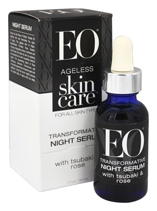 Ageless Skin Care Transformative Night Serum with Tsubaki & Rose - 1 oz. by EO Products (pack of 2) Coppertone Defend & Care Face Sunscreen Stick SPF 50, .25 oz