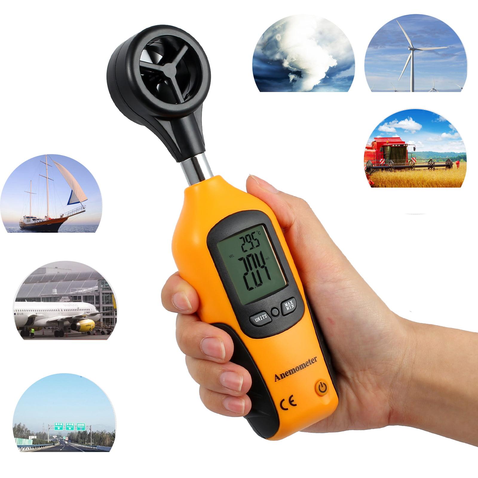 Digital Anemometer Vane Wind Speed Measurement ET-955 CFM//CMM Thermo Anemometer for Wind Speed Gauge Meter Temperature Scale