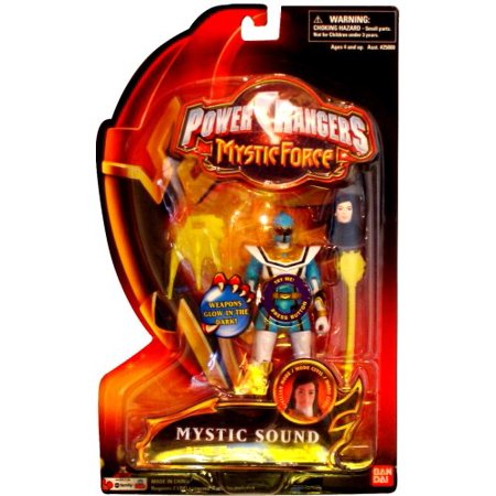 Power Rangers Mystic Force Sound Action Figure Blue Power Ranger, By Bandai Ship from US - Blue Mystic Ranger