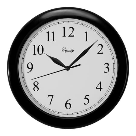 Equity by La Crosse 25203 10 Inch Basics Black Quartz wall clock