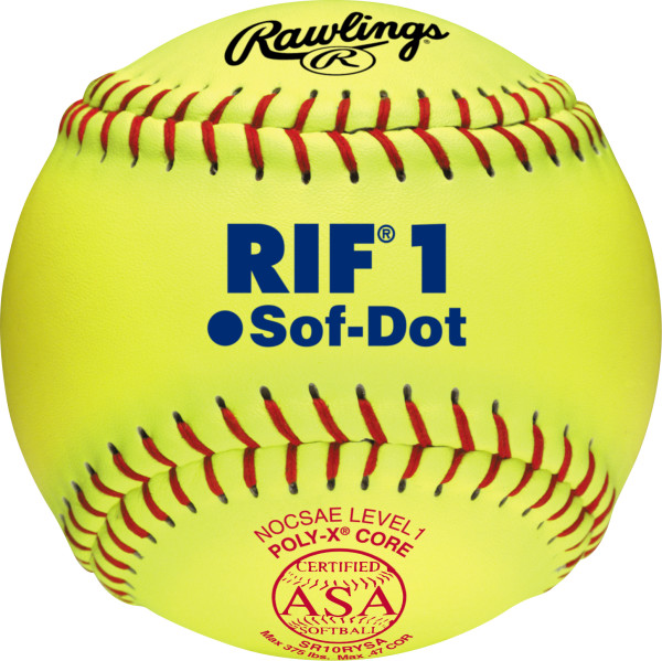 Rawlings 10 inch Level 1 Soft Center RIF Official Softballs