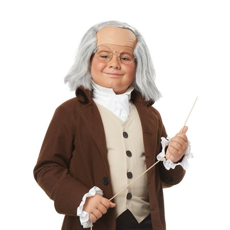 Child Benjamin Franklin Wig by California Costumes - Dog In A Wig
