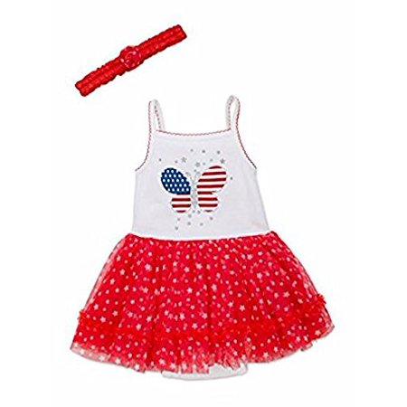 Baby Girls Little Me Babys Star-Print Tulle Dress 24 Months ()