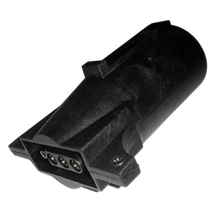 New RV 7-Blade Round Male To 4-Way Flat Trailer Wiring