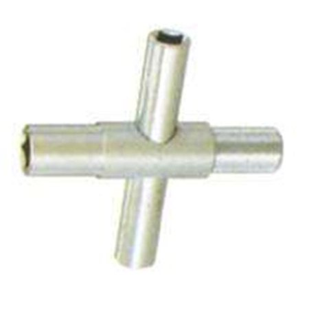 MintCraft T1543L 4-Way Silcock Key, For Use With 1/4 and 5/16 in Square Stem, Hardened (Mintcraft Ball)