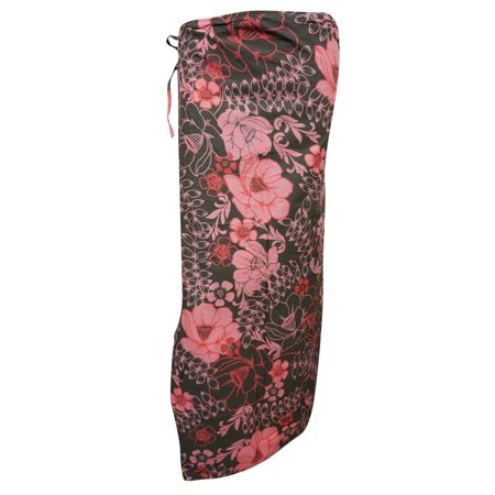 b7af1d4b2a Mogul Interior - Mogul Women's Magic Beach Wrap Skirt Brown Floral ...