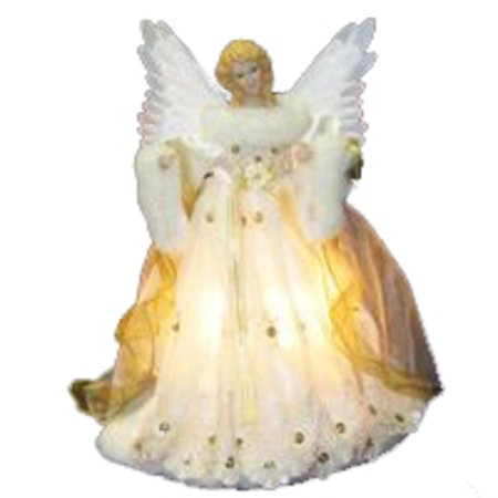 14 lighted ivory and gold fiber optic animated angel christmas tree topper - Angel Christmas Tree