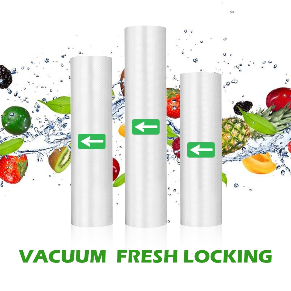Vacuum Sealer Bags Rolls for Food Preservation with Double-Sided Texture Channe