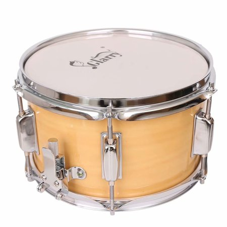 "Glarry 10 x 6"" Snare Drum Poplar Wood Drum Percussion Set Wood Color"