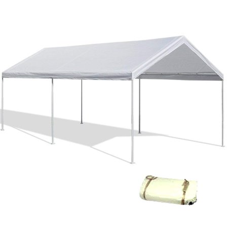 20'X40' White Canopy Replacement Cover Top Roof Tarp Shade Car Motorcycle Boat Jetski or Trade Show - White Car Canopies