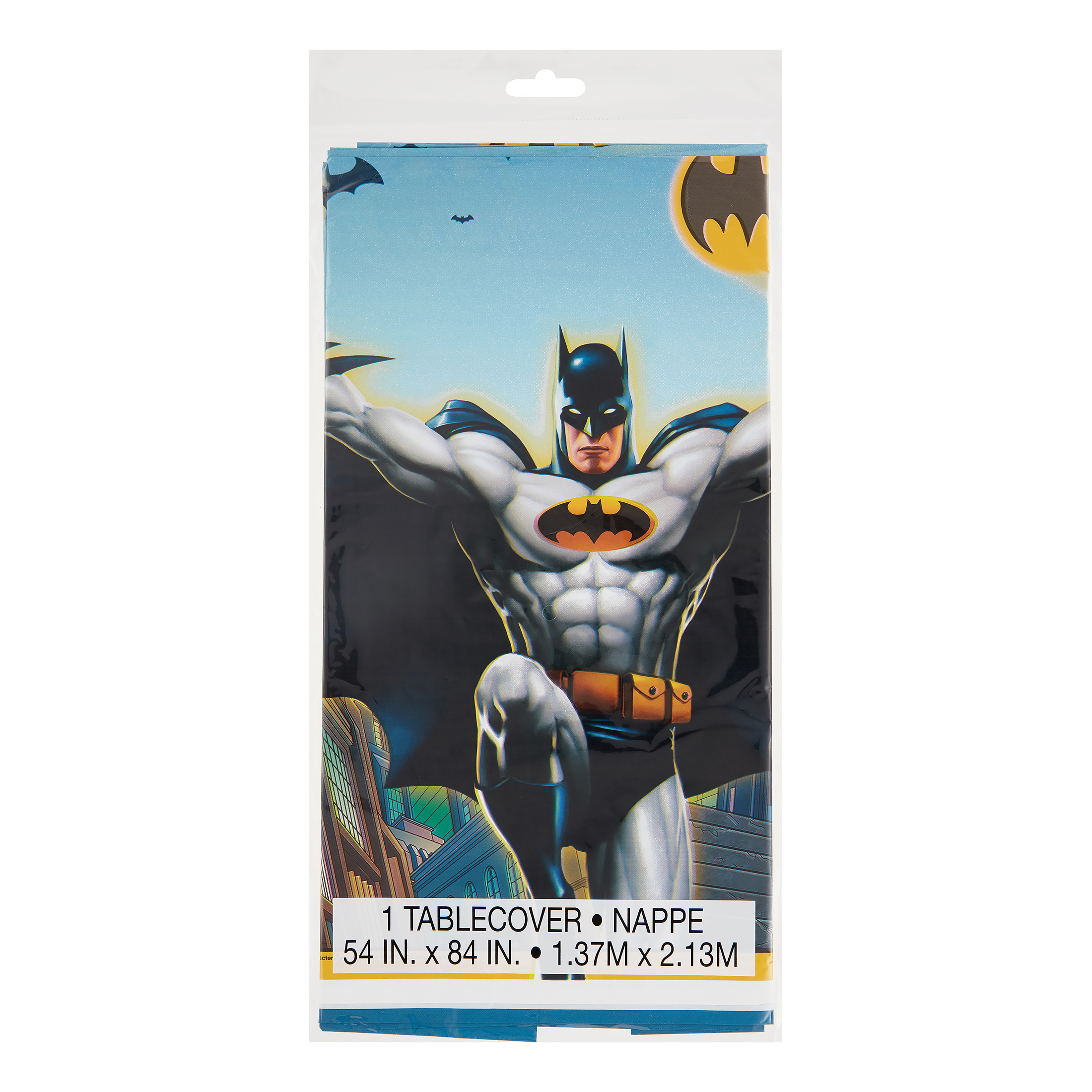 "Batman Plastic Tablecover, 54"" x 84"", 1 Ct"