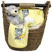 Raindrops Unisex Baby Welcome Home 9-Piece Gift Set Yellow, 3-6M