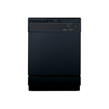 Hotpoint HDA2100HBB - Dishwasher - built-in - Niche - width: 24 in - depth: 24 in - height: 34.5 in - black