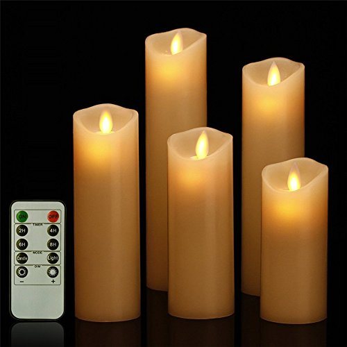 """Set of 2 Christmas House 9/"""" Battery Operated LED Window Candles Flicker Effect"""