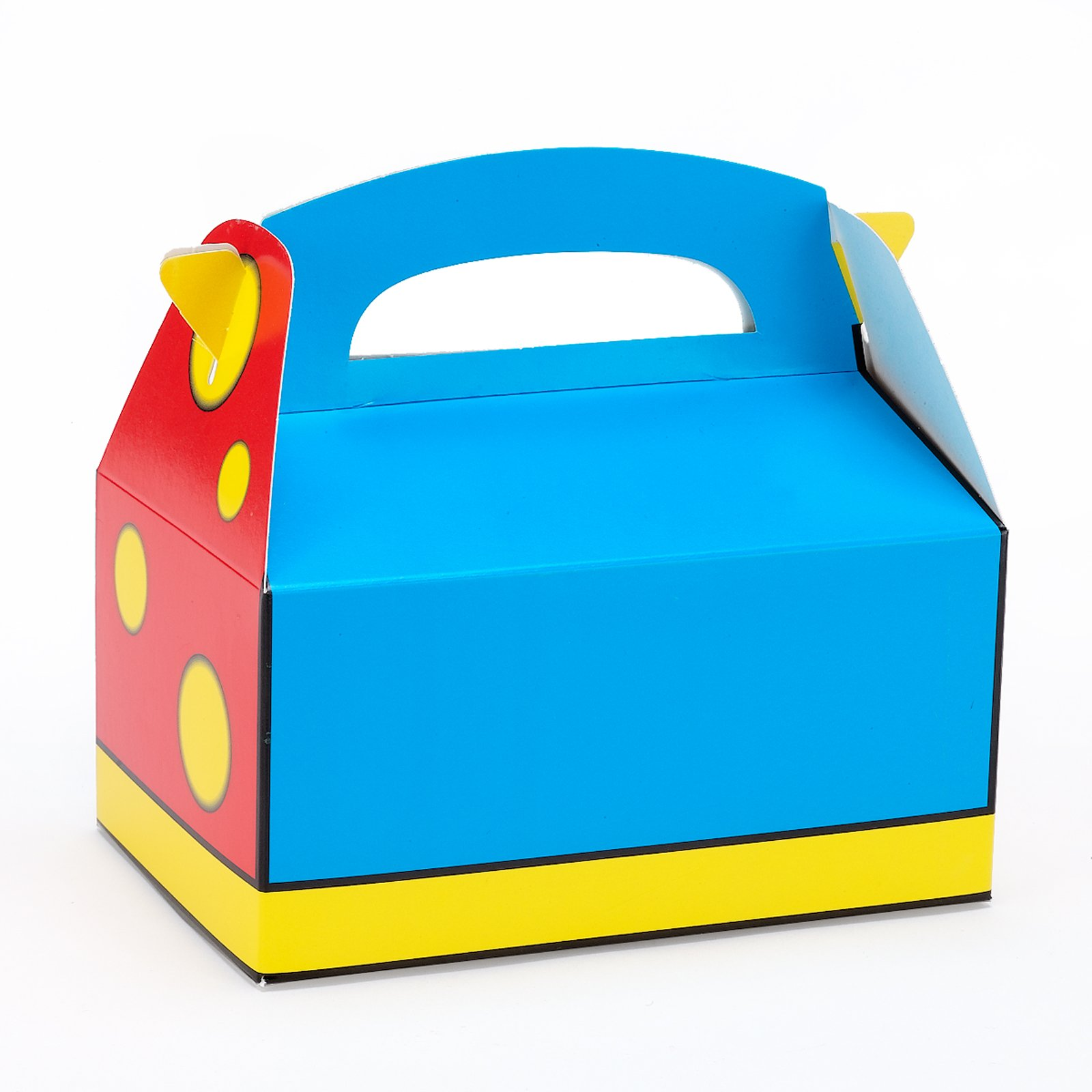 Red, Blue and Yellow Favor Boxes (4 count)