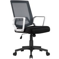 Yaheetech Adjustable Mesh Office Chair Ergonomic Height Computer Chair with 360 Rolling Casters Gray