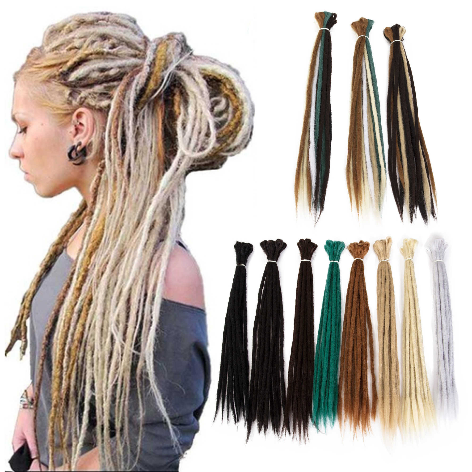 Florata 5 Bundles Crochet Braids Dreadlock Hair Extensions Synthetic Wavy Faux Locs Crochet Hair Synthetic Hair For Women 20 Inch 25g Braiding Crochet Twist Hair Walmart Com Walmart Com