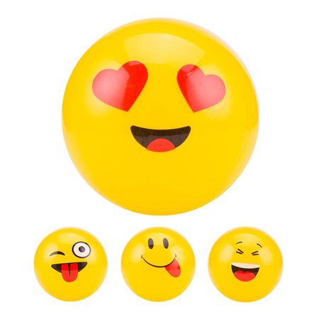 Directer Emoji Party Pack Inflatable Beach Balls Pool Party Toys Gift Kids Yellow Decor - Beach Party Decor