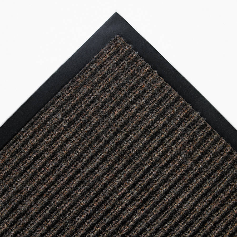 Crown Needle Rib Wipe & Scrape Polypropylene Mat, 36 X 60, Brown