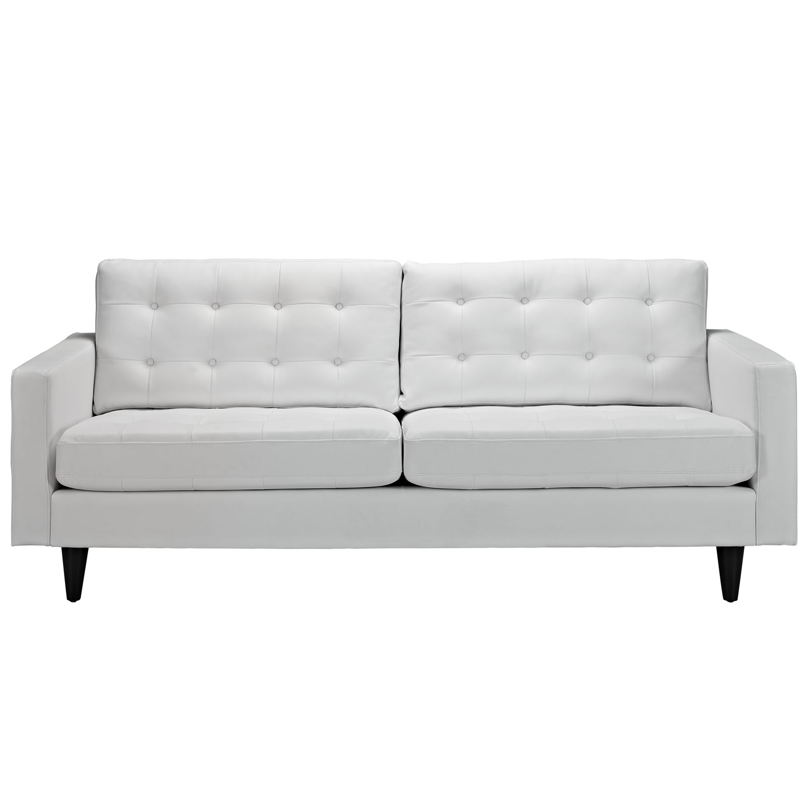 Modern Contemporary Living Room Leather Sofa White