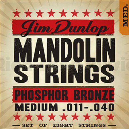 Dunlop DMP1140 Mandolin Strings, Phosphor Bronze, Medium, .010-.040, 4 Strings/Set, Dynamic and expressive acoustic experience By Jim Dunlop From