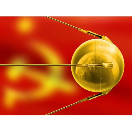Sputnik 1, Artwork Print Wall Art By Detlev Van Ravenswaay