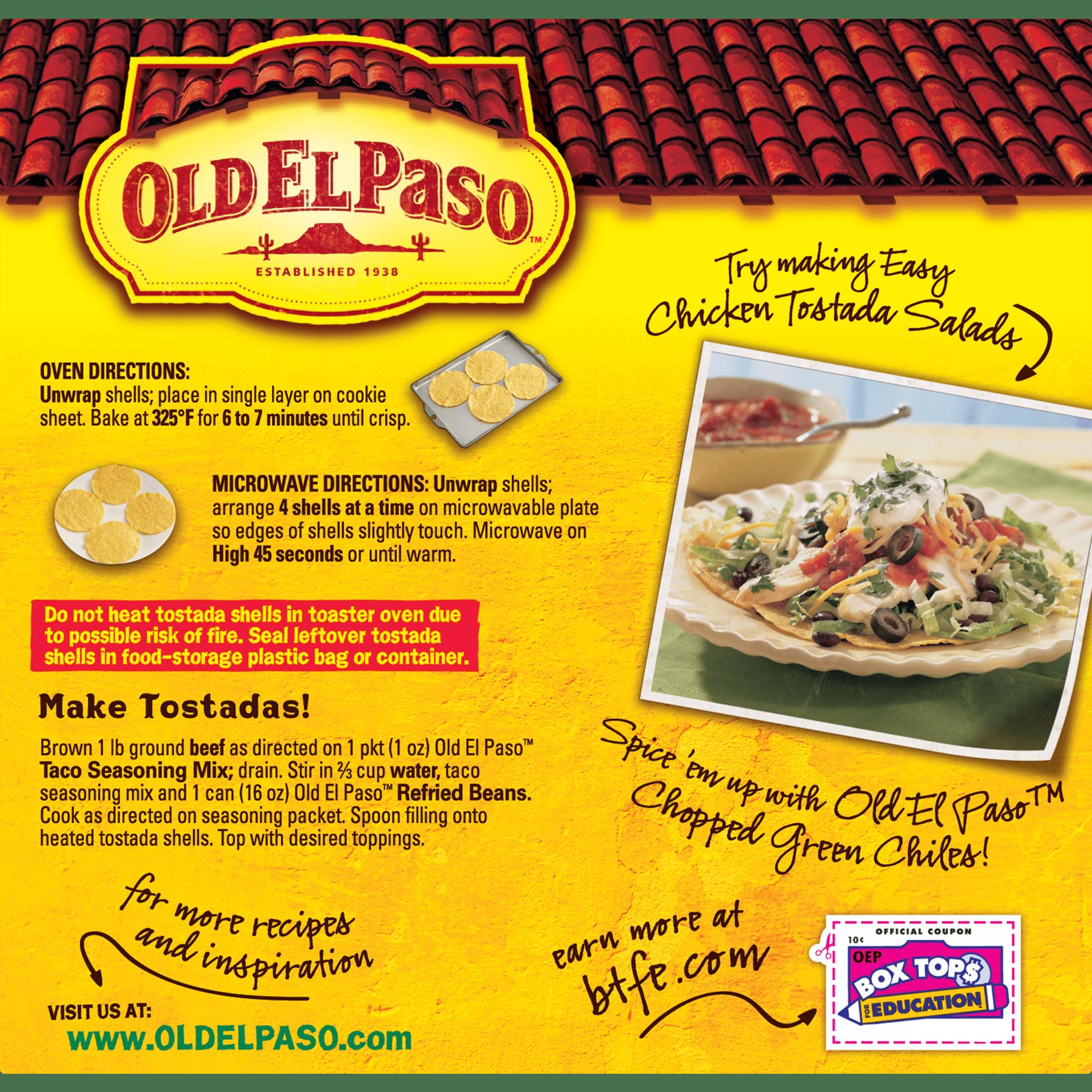 Old El Paso Gluten Free Tostada Shells 12 Ct 45 Oz Walmart