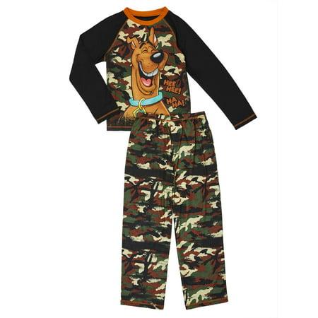 Scooby Doo Boys' Camo 2-piece Pajama Sleep Set (Little Boys & Big Boys) (Daphne Dress Scooby Doo)