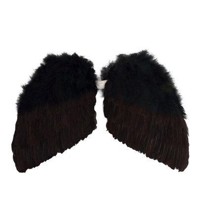 Star Power Genuine Feather Beautiful Wings, Black, Child Size (14