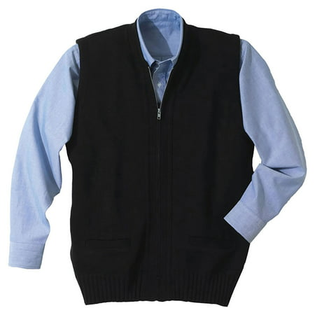 Edwards Garment Two Pockets Full Zip Sweater Vest, Style 302 ...