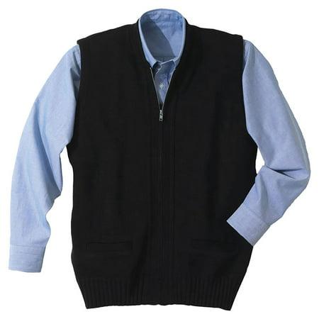 Edwards Garment Two Pockets Full Zip Sweater Vest, Style 302 ...